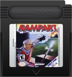 Cartridge artwork for Rampart on the Nintendo Game Boy Color.
