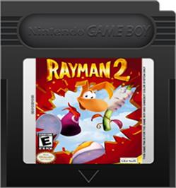 Cartridge artwork for Rayman 2: The Great Escape on the Nintendo Game Boy Color.
