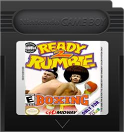 Cartridge artwork for Ready 2 Rumble Boxing on the Nintendo Game Boy Color.