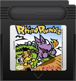 Cartridge artwork for Rhino Rumble on the Nintendo Game Boy Color.