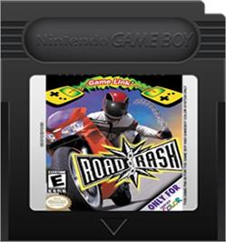 Cartridge artwork for Road Rash on the Nintendo Game Boy Color.
