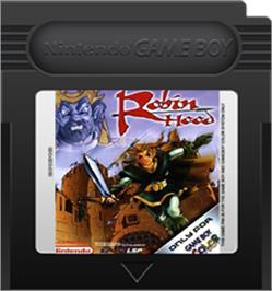 Cartridge artwork for Robin Hood on the Nintendo Game Boy Color.