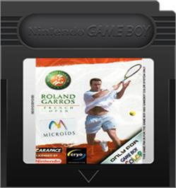 Cartridge artwork for Roland Garros French Open 2000 on the Nintendo Game Boy Color.
