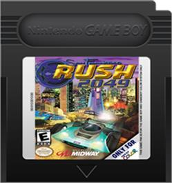 Cartridge artwork for San Francisco Rush 2049 on the Nintendo Game Boy Color.