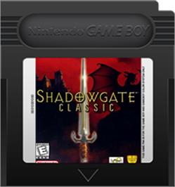 Cartridge artwork for Shadowgate Classic on the Nintendo Game Boy Color.