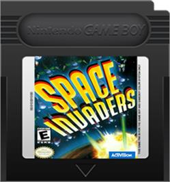 Cartridge artwork for Space Invaders on the Nintendo Game Boy Color.
