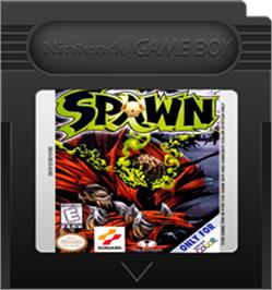 Cartridge artwork for Spawn on the Nintendo Game Boy Color.