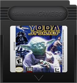 Cartridge artwork for Star Wars: Yoda Stories on the Nintendo Game Boy Color.