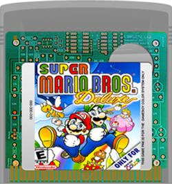 Cartridge artwork for Super Mario Bros. Deluxe on the Nintendo Game Boy Color.