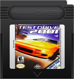 Cartridge artwork for Test Drive 2001 on the Nintendo Game Boy Color.