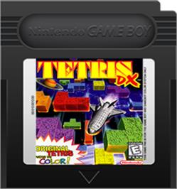Cartridge artwork for Tetris DX on the Nintendo Game Boy Color.