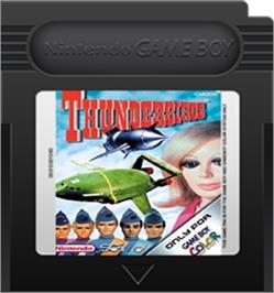 Cartridge artwork for ThunderBirds Are Go on the Nintendo Game Boy Color.