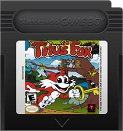 Cartridge artwork for Titus the Fox: To Marrakech and Back on the Nintendo Game Boy Color.