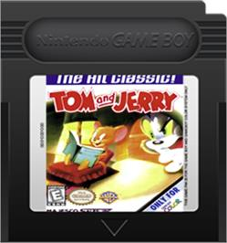 Cartridge artwork for Tom & Jerry on the Nintendo Game Boy Color.