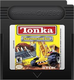 Cartridge artwork for Tonka Construction Site on the Nintendo Game Boy Color.