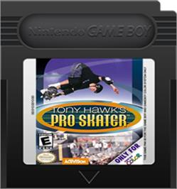 Cartridge artwork for Tony Hawk's Pro Skater on the Nintendo Game Boy Color.