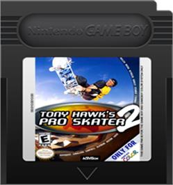 Cartridge artwork for Tony Hawk's Pro Skater 2 on the Nintendo Game Boy Color.