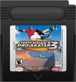 Cartridge artwork for Tony Hawk's Pro Skater 3 on the Nintendo Game Boy Color.