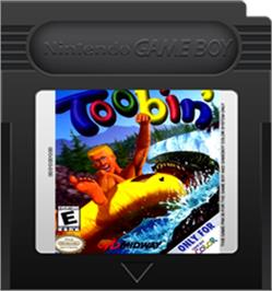Cartridge artwork for Toobin' on the Nintendo Game Boy Color.