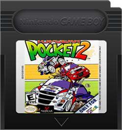 Cartridge artwork for Top Gear Pocket 2 on the Nintendo Game Boy Color.