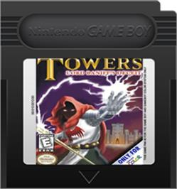 Cartridge artwork for Towers: Lord Baniff's Deceit on the Nintendo Game Boy Color.