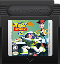Cartridge artwork for Toy Story 2: Buzz Lightyear to the Rescue on the Nintendo Game Boy Color.