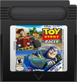 Cartridge artwork for Toy Story Racer on the Nintendo Game Boy Color.