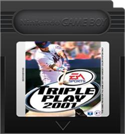Cartridge artwork for Triple Play 2001 on the Nintendo Game Boy Color.
