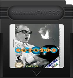 Cartridge artwork for Trouballs on the Nintendo Game Boy Color.