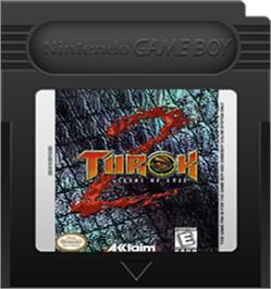 Cartridge artwork for Turok 2: Seeds of Evil on the Nintendo Game Boy Color.
