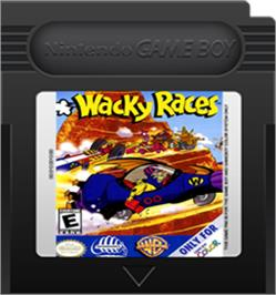 Cartridge artwork for Wacky Races on the Nintendo Game Boy Color.