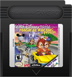 Cartridge artwork for Walt Disney World Quest: Magical Racing Tour on the Nintendo Game Boy Color.