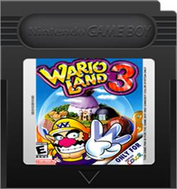 Cartridge artwork for Wario Land 3 on the Nintendo Game Boy Color.