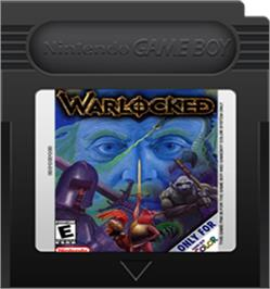 Cartridge artwork for Warlocked on the Nintendo Game Boy Color.