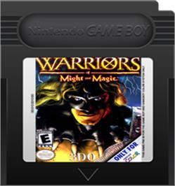 Cartridge artwork for Warriors of Might and Magic on the Nintendo Game Boy Color.