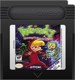 Cartridge artwork for Wendy: Every Witch Way on the Nintendo Game Boy Color.