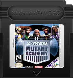 Cartridge artwork for X-Men: Mutant Academy on the Nintendo Game Boy Color.