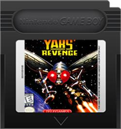 Cartridge artwork for Yars' Revenge - Quotile Ultimatum on the Nintendo Game Boy Color.