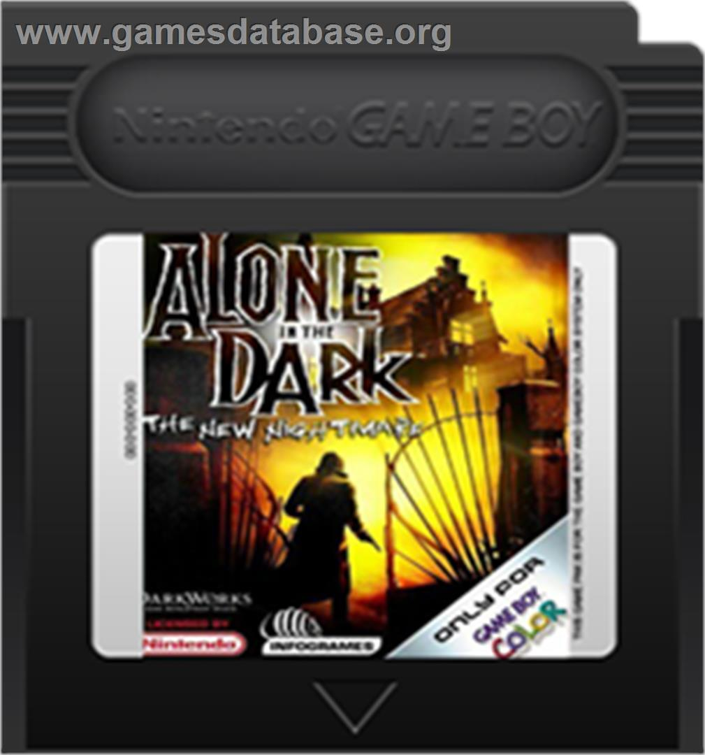 Alone in the Dark: The New Nightmare - Nintendo Game Boy Color - Artwork - Cartridge