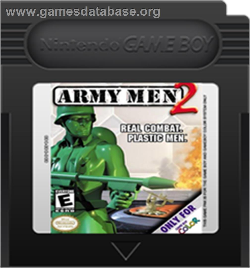 Army Men 2 - Nintendo Game Boy Color - Artwork - Cartridge