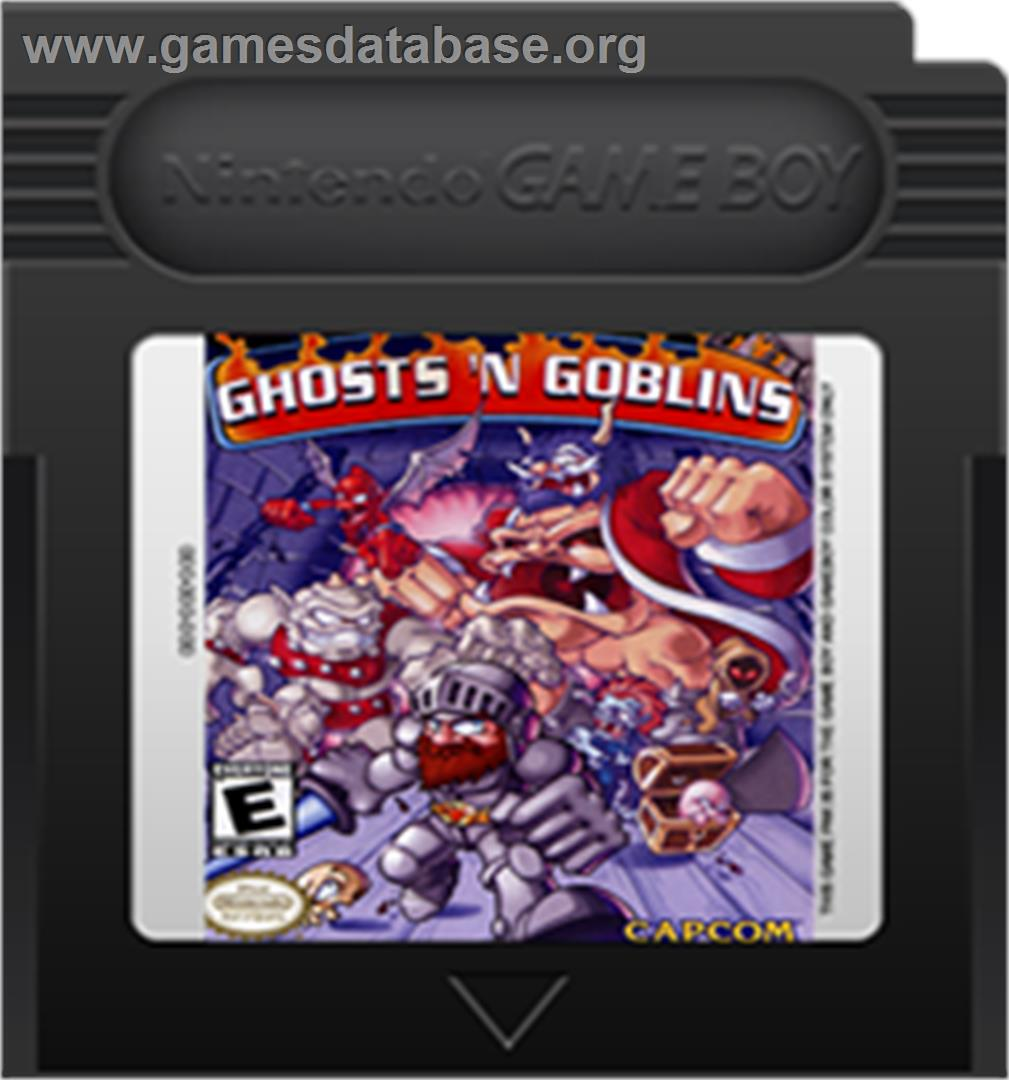 Ghosts'n Goblins - Nintendo Game Boy Color - Artwork - Cartridge