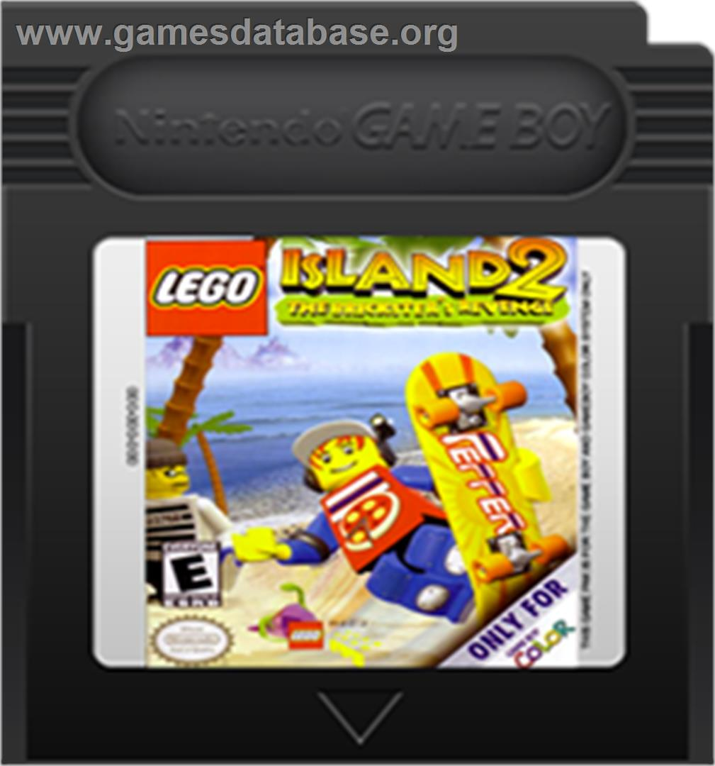 LEGO Island 2: The Brickster's Revenge - Nintendo Game Boy Color - Artwork - Cartridge