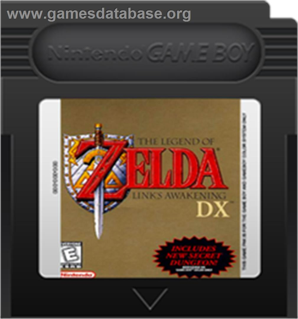 Legend of Zelda: Link's Awakening DX - Nintendo Game Boy Color - Artwork - Cartridge