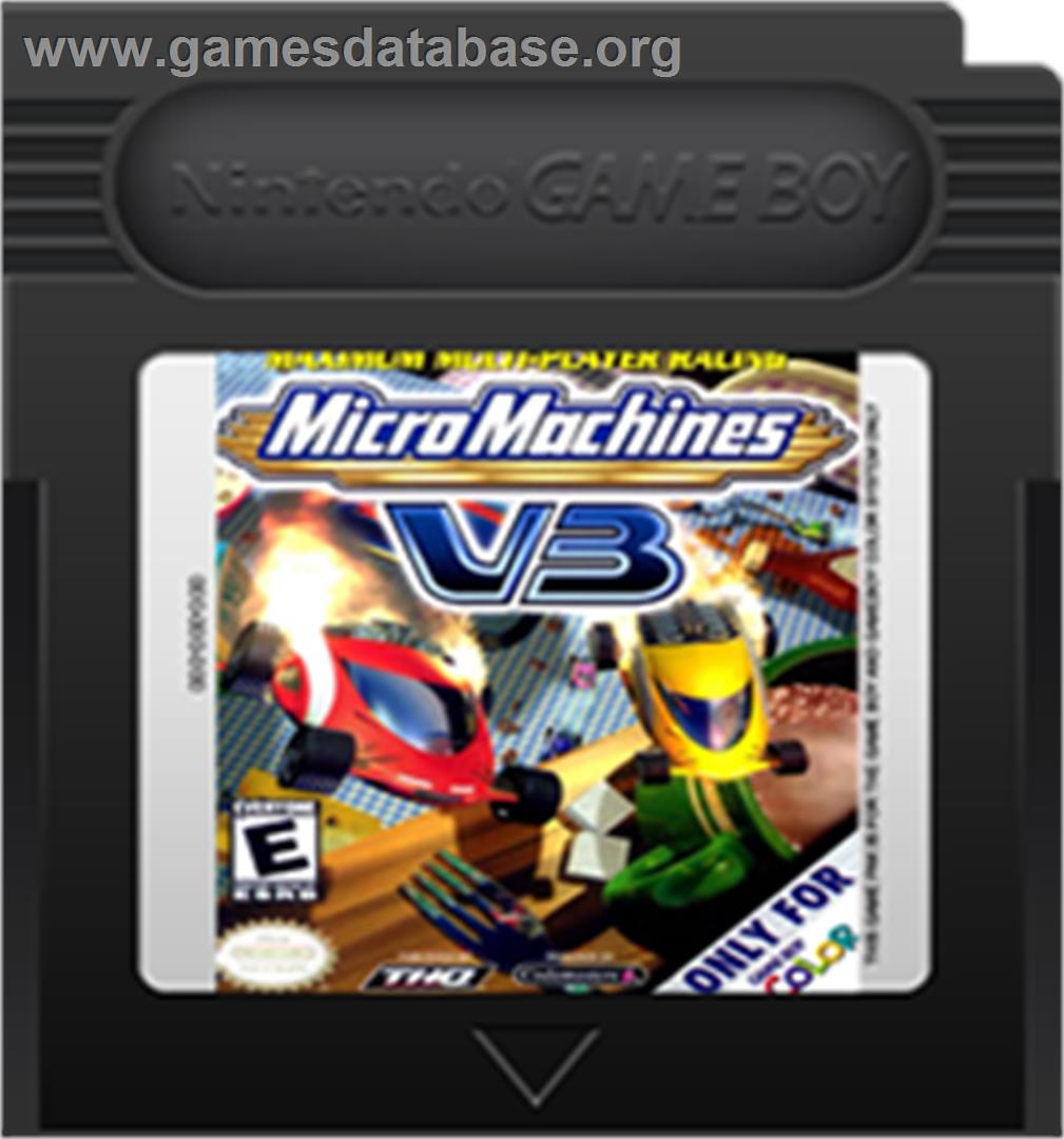 artwork for Micro Machines V3 on the Nintendo Game Boy Color