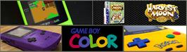 Arcade Cabinet Marquee for Harvest Moon 3 GBC.