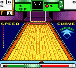 In game image of 10-Pin Bowling on the Nintendo Game Boy Color.