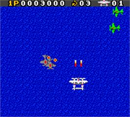 In game image of 1942 on the Nintendo Game Boy Color.