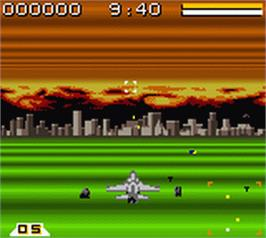 In game image of Air Force Delta on the Nintendo Game Boy Color.