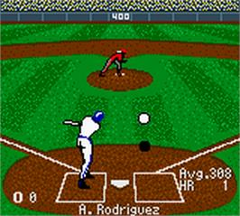 In game image of All-Star Baseball 2001 on the Nintendo Game Boy Color.