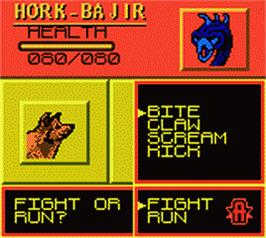 In game image of Animorphs on the Nintendo Game Boy Color.